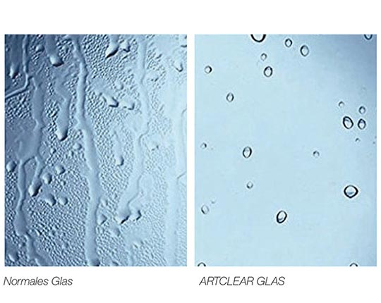 ARTCLEAR Glas vs Normales Glas